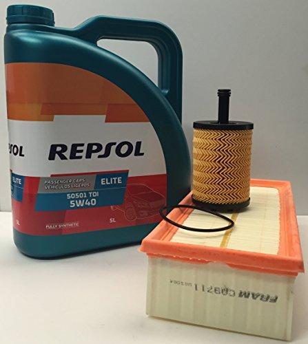 Repsol Pack Elite TDI 5w40 505 01 + Filtro Aceite y Aire...