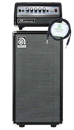 Ampeg SVT Micro-VR Head und Ampeg SVT-210AV Bass Box Set (Topteil mit Leistung: 200 Watt an 4 Ohm, Bass Cabinet mit 2x 10