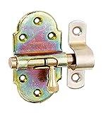 GAH-Alberts 128944 Grendelriegel | mit Messing-Knopf | galvanisch gelb verzinkt | Platte 40 x 75 mm | Bolzen-Ø 9 mm