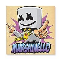マシュメロ Marshmello (7) 壁掛け 部屋飾り 掛け絵 キャンバス素材 背景絵画 壁アート 装飾 軽くて取り付けやすい