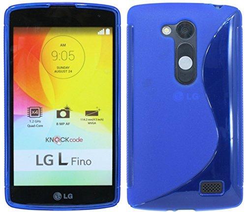 ENERGMiX Silikon Hülle kompatibel mit Lg L Fino D290 Tasche Hülle Gummi Schutzhülle Zubehör in Blau