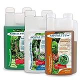 AQUALITY Aquarium 3er Pflanzenpflege Sparset (Dünger - 1. Pflanzendünger - 2. Eisendünger - 3. CO2 Kohlenstoffdünger für einen perfekten Pflanzenwuchs), Set-Größe:Set 500