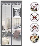 YWARX Mosquitera Puerta Magnetica,Adsorción Magnética Plegable Anti Mosquito Insecto Mosquitera,Cortina de Malla Resistente,para Puertas de Salón Balcón Corredor,C,90x190cm/35x74in