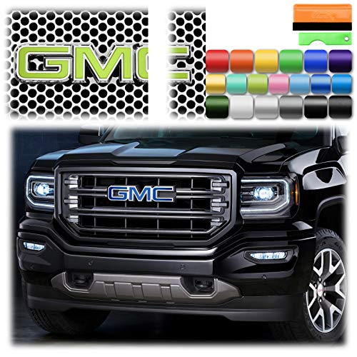 "Free Tool Kit 6Pcs 4""x6"" GMC Emblem Overlay Matte Green Vinyl Wrap Sticker Decal Film Sheet"