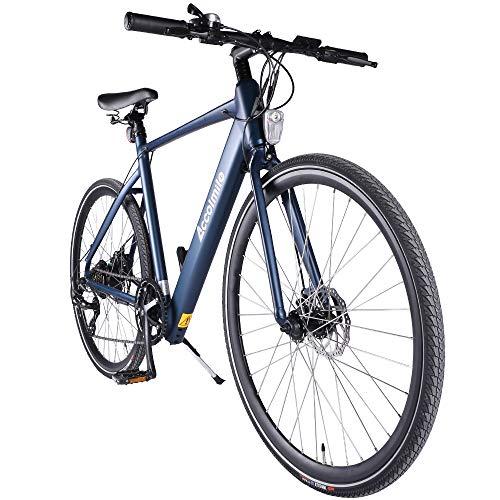 Accolmile Bici Elettrica da Città Trekking Road Bike 28' 700C Bicicletta Elettrica leggera per Pendolari Ebike, BAFANG 36V 250W con Mozzo Posteriore con Batteria 10,5 Ah, Shimano a 7 velocità