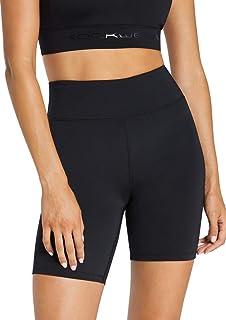 Rockwear Activewear Women's Rw Logo Bike Short Black 6 from Size 4-18 for Bottoms Leggings + Yoga Pants+ Yoga Tights