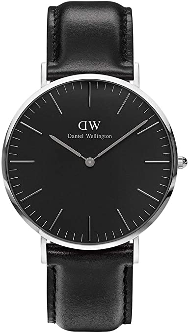 Classic Black Sheffield Watch Silver