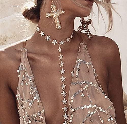 Tianyio Body Chain,Sexy Chain Bikini,Waist Chains Fashion Body Accessories Jewelry for Women and Girls,C
