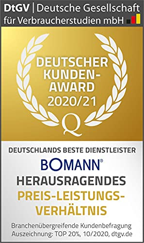 Bomann DU 623.3 Dunstabzugshaube Unterbau – Glas-Wrasenschirm – Edelstahl-Optik - 8