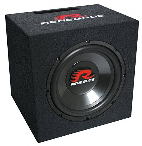 Renegade RXV1000 25cm Auto Bassreflex Gehäuse Subwoofer Basskiste 500 Watt Maximal