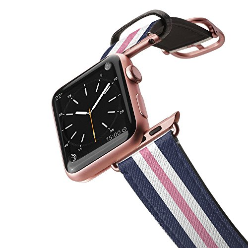 Casetify Bands Compatible for Apple Watch Bands 38mm 42mm with Rose Gold Stainless Steel Buckle Replacement Band for iWatch Apple Watch Series 4 Series 3 Series 2 Series 1 (Classic Lady - Pink)