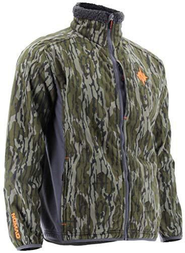 Nomad Men's Harvester Wind & Water Resistant Sherpa Fleece Hunting Jacket, Mossy Oak Bottomland, X-Large