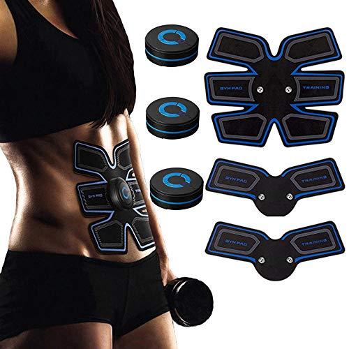 KOLIU Estimulador de Entrenador Muscular Abdominal ABS EMS Masajeador Electroestimulación Cuerpo Adelgazamiento Entrenamiento Vibración Fitness Máquina Unisex