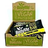 BodyMe Barrette Proteiche Vegan Bio | Cruda Curcuma Limone | 12 x 60g Barretta Proteica | ...