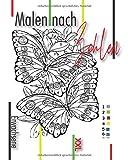 Malen Nach Zahlen Erwachsene XXL: Groß Malbuch für Erwachsene färben durch Zahlen mit erstaunlichen Entwürfen von Tiere, Natur, Vögeln, Blumen und ... Spaß und Anti-Stress Malbüch nach Zahlen.