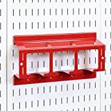 Wall Control Drill Holder Power Tool Storage Rack - Compact Impact Drill Battery Power Tool Pegboard...