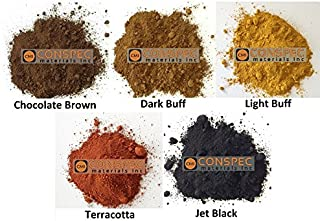 Conspec 5 Lbs. MIXED COLORS Powdered Color for Concrete, Cement, Mortar, Grout, Plaster, Colorant, Pigment, BROWN, BLACK, LIGHT DARK BUFF, TERRACOTTA
