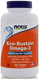 Now Foods Eco-Sustain Omega-3, Softgels, 180ct