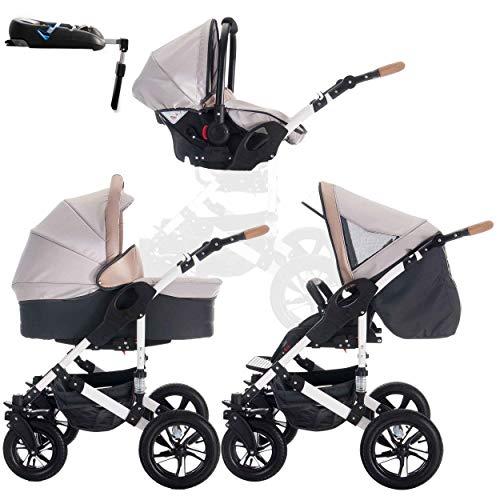 Bebebi myVARIO | 4 in 1 Kinderwagen + ISOFIX | Luftreifen | Farbe: myHoney