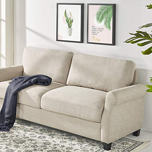 Our #6 Pick is the Zinus Josh Traditional Upholstered Beige Loveseat