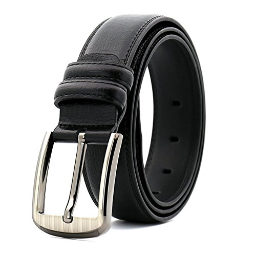 Cinturón para hombres Cinturones para hombres Negocios Hebillas de cuero casuales Cinturones con dibujos geológicos adecuados para todas las estaciones y lugares Trajes para ropa de trabajo formal for