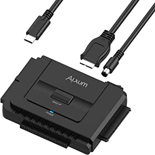 """Alxum IDE SATA Hard Drive Adapter, USB-C Hard Drive Converter for Universal 2.5"""" 3.5"""" SATA and IDE HDD SSD, Support One-To..."""