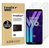 ivoler [3 Stücke] Panzerglas Schutzfolie für Huawei Y6 2018 / Huawei Honor 7A, 9H Festigkeit, Anti- Kratzer, Bläschenfrei, [2.5D R&e Kante]