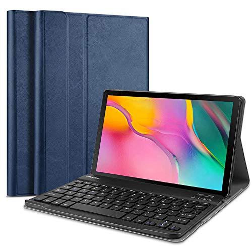 Funda con Teclado para Galaxy Tab S5e 2019 SM-T720/T725/T727, Keyboard Case Cubierta Delgada con Teclado Inalámbrico Desmontable para Galaxy Tab S5e 10.5 Pulgadas SM-T720/T725, Azul