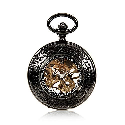 HUDEMR Taschen-Uhr Vintage Taschenuhr römische mechanische Taschenuhr Wilde hängende Liste Uhr Hohle mechanische Uhr EIN schönes Geschenk Weinlese-Taschen-Uhr