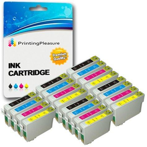 20 Cartuchos de tinta compatibles para Epson Stylus S20 S21 SX100 SX105 SX110 SX115 SX200 SX205 SX210 SX215 SX218 SX400 SX415 SX515W SX600FW D78 D92 D120 DX4000 B300F | T0711 T0712 T0713 T0714 (T0715)