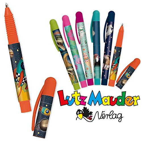 Neu: Kugelschreiber * Rakete * für die Grundschule | mit auswechselbarer Mine | Weltraum Astronaut Kinder Stift Schreiben Schule Einschulung Füller