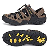 SAGUARO Mens Hiking Sandals Outdoor Sports Sandals Breathable Closed Toe Non-Slip Summer Athletic Sandals for...