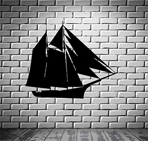 wandaufkleber Schiff Yacht Boot Kiel See Ocean Marine Mural