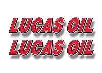 Lucas Oil 9インチ ビニールレーシンググラフィックステッカー デカール 車用燃料安定剤添加剤 デカールステッカー 2枚