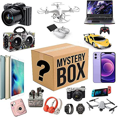 Mystery Box Electronics, Mystery Boxes Random, Birthday Surprise Box, Lucky Box for Adults Surprise Gift, Such As Drones, Smart Watches, Gamepads and More, Best Gift for Holidays