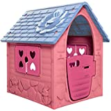 Dohany Spielhaus Kinderspielhaus Gartenhaus Indoor Outdoor +2J (pink)