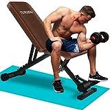 TURUDU Weight Bench, Adjustable Strength Training Bench for Full Body Workout, Multi-Purpose Utility...