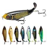 KDOAE Señuelos de Pesca Cebo Duro Artificial Pesca Plopper Gancho Cola giratoria 10pcs / Set lápiz Popper topwater Pesca señuelo Cebo Suministros de Pesca (Color : Multi-Colored, Tamaño : 10.5cm)