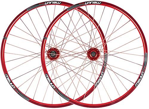 qwert Rueda Trasera De 26 Pulgadas Rueda De La Rueda De La Rueda De La Bicicleta Ultralight 951G / 1126G del Impulsor del Freno De Disco Impulsor MTB De Doble Pared Rim A 7 8 9 10 Velocidad,Rojo