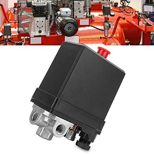 """G1 / 4\"""" Interruptor de presión para compresor de aire, 380V válvula de control de interruptor de presión neumática, piezas de repuesto verticales trifásicas de 4 agujeros"""