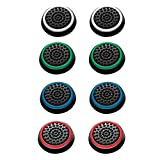 4 Pairs 8 Pcs Silicone Cap Joystick Thumb Grip Protect Cover for Ps3 Ps4 Xbox 360 Xbox One Wii U Game...