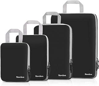 Newdora Organizer Valigie-Set di 4-Organizzatori da Viaggio a Compressione-Cubi da Viaggio-Impermeabile-l'uso del viaggio ...