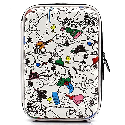DJH Estuche para lápices Snoopy de Gran Capacidad, Estuche Grande, portalápices, Estudiante, niña, niño, útiles Escolares, Organizador de papelería de Maquillaje para la Universidad y la Oficina