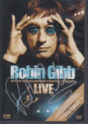 ROBIN GIBB OFFicial The Bee DVD cover signed Gees Bargain