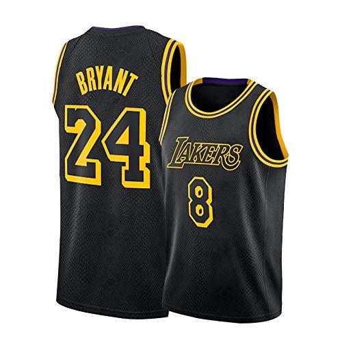 Lakers Kobe 8# 24# Basketball Jersey, Mamba Black Mamba Mamba Tela Deportes Deportes Sin Mangas Vest Port Sports Team Training Competición Camisetas S