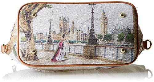 YNOT Shopping M, Borsa a spalla Donna, Multicolore (Amazing London), 40x25.5x15 cm (W x H x L)