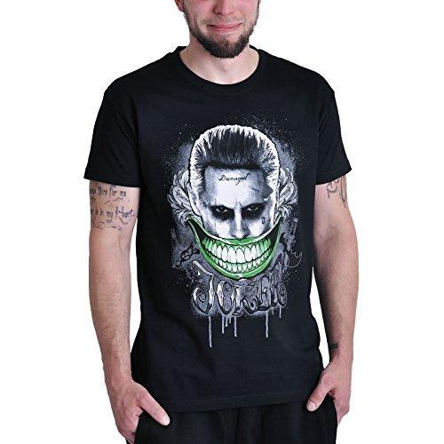 Suicide Squad T-Shirt Joker Smile von   schwarz - L