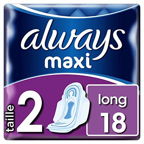 Always Maxi Long T2 Serviettes avec Ailettes 18...