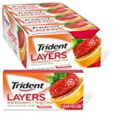 Trident Layers Strawberry & Citrus Sugar Free Gum, 12 Packs of 14 Pieces