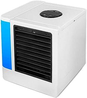 AUUUA Mini aire acondicionado Mini USB aire acondicionado humidificador purificador de 7 colores luz de escritorio ventilador de refrigeración de aire